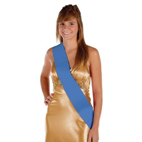 Satin Sash (blue) Party Accessory  (1 count) (1/Pkg)