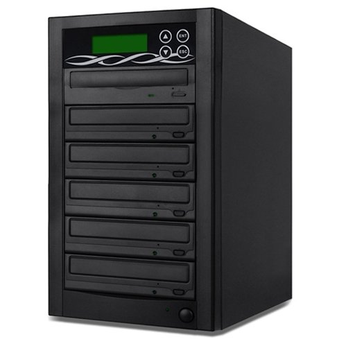SATA DVD Duplicator - 5 Target Standalone CD / DVD Duplicator with SATA DVDRW by BestDuplicator
