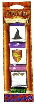 Harry Potter Tattoo Stamp Strip: Sorting Hat, Gryffindor Seal & Tattoo Ink - Hat Hogwarts House Sorting