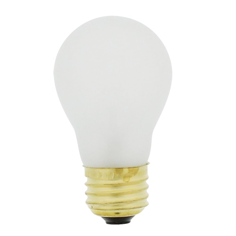 Snap Supply Incandescent Light Bulb 40-Watt, Medium Based, A15 Appliance Bulb, Frost 40A15