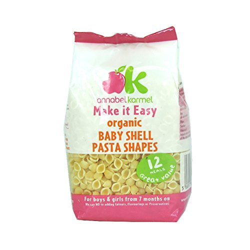 Annabel Karmel - 7 Months - Organic Baby Shell Pasta Shapes - 250g (Case of 8) (Babies Pasta compare prices)