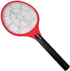 Master- Raqueta mata insectos recargable con malla metálicas encargadas de realizar la eliminación de los insectos, cuenta también con LED indicadores de carga y de activación