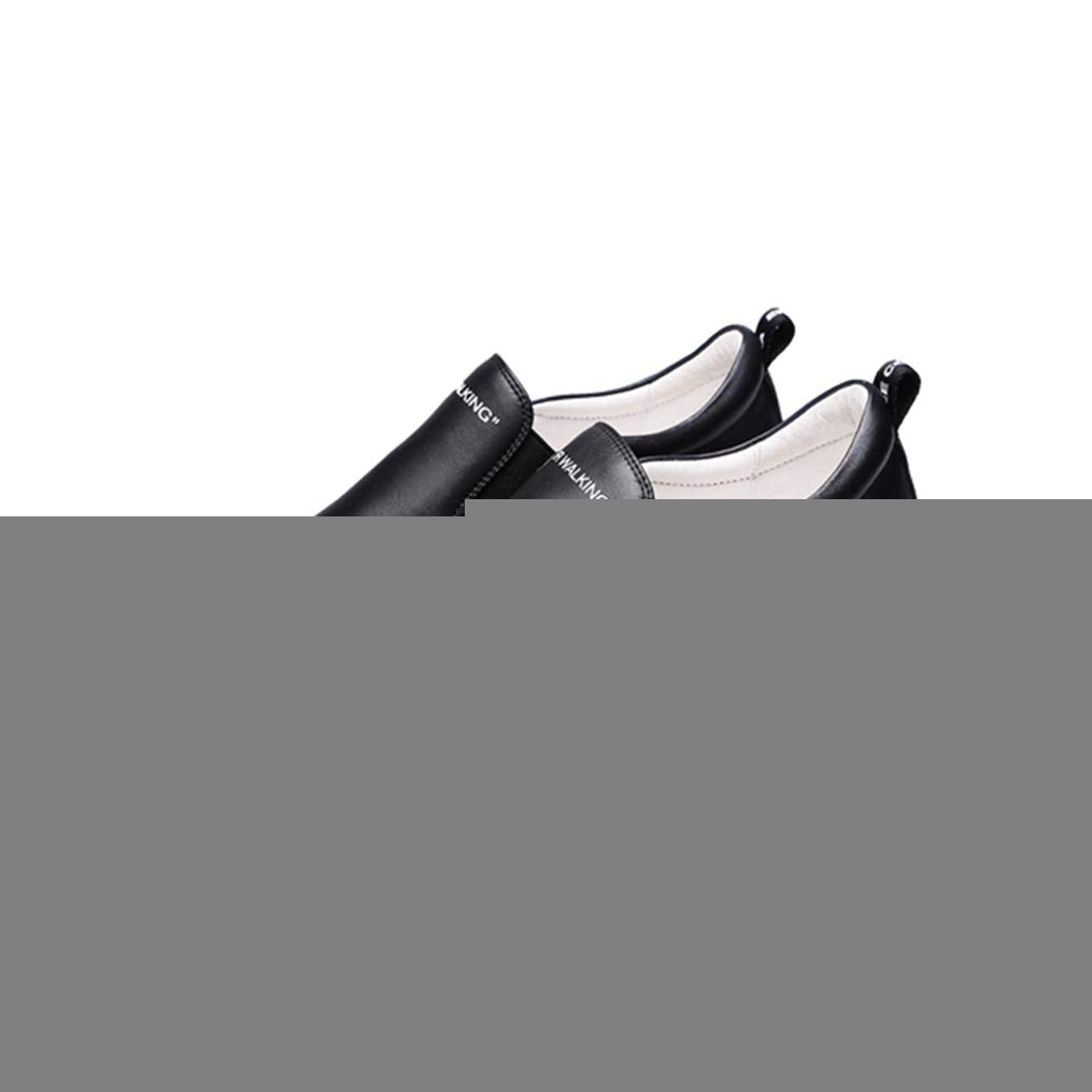 Black T-JULY Wedges Sneakers Women Slip-on Genuine Leather Platform shoes for Women Autumn Casual shoes Height Increase