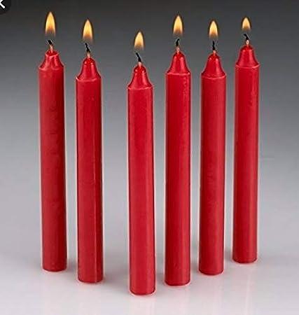 Vela de Mesa Multiples Colores 17,5 cm (Roja, 4 Velas ...
