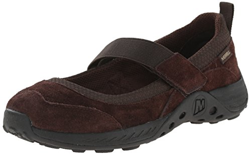 Sport Brown Flat Shoe (Merrell Jungle Moc Sport Mary Jane Flat (Little Kid/Big Kid),Brown,7 W US Big Kid)