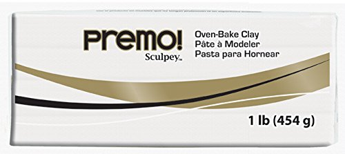 - Sculpey Premo Art Clay, White Translucent