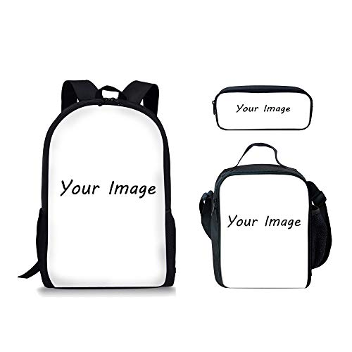 Freewander Personalized Lunch Bag with Backpack Pen Holder Custom Daypack