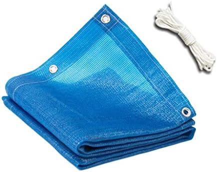 遮光布遮光ネット、ブルーHDPE日焼け止め植物温室カバー、巾着庭ネット付き遮光布植物カバー(サイズ:2.9x4m)