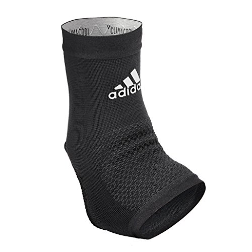 'Adidas Performance Climacool Ankle Compression Sleeve Support with Moisture Wicking Technology, Black, Size Small'