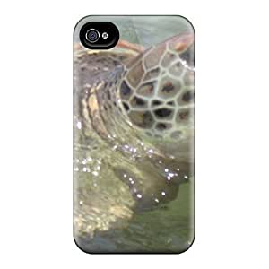 Anti-scratch And Shatterproof Turtle With A Bad Attitude Phone Case For Iphone 4/4s/ High Quality Tpu Case
