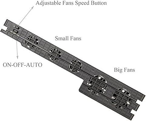 Megadream PS4 Pro - Ventilador de refrigeración USB con 5 ...