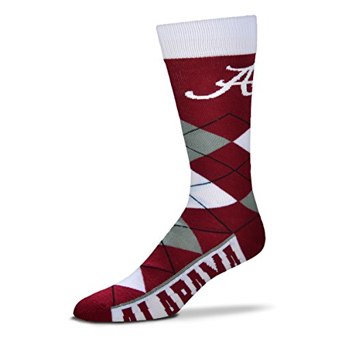 online store a43d0 32847 For Bare Feet Men s NCAA Argyle Lineup Crew Dress Socks-One Size Fits Most