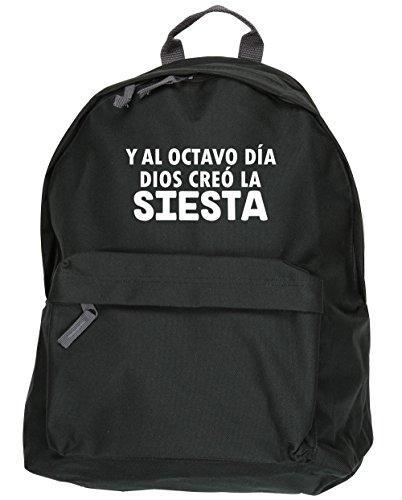 HippoWarehouse Y Al Octavo Día Dios Creó La Siesta kit mochila Dimensiones: 31 x 42 x 21 cm Capacidad: 18 litros Negro