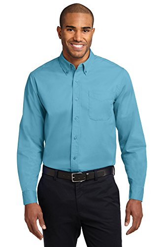 (Port Authority Men's Tall Long Sleeve Easy Care Shirt XLT Maui Blue)