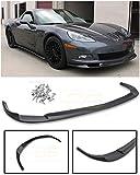 Extreme Online Store for 2005-2013 Chevrolet Corvette C6 Base Models | EOS ZR1 Style ABS Plastic Primer Black Front Bumper Lower Lip Splitter