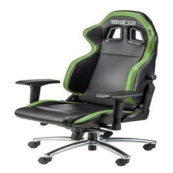 design de qualité 7126e 59d74 SPARCO S00975NRVD Chaise de Bureau R100S Noir Vert, Set de 2 ...