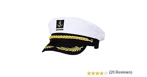 BESTOYARD Gorra capitán Adulto Yate Barco Navegante Capitán Traje ...