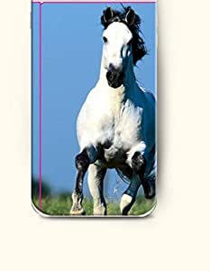 SevenArc Apple iPhone 6 Case 4.7 Inches - White Horse Running in the Grassland