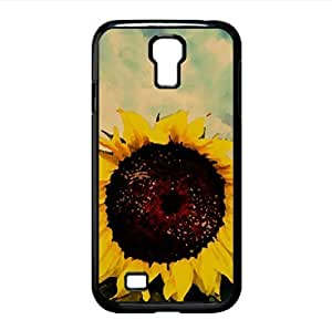 Sunflower Close up HDR Watercolor style Cover Samsung Galaxy S4 I9500 Case (Flowers Watercolor style Cover Samsung Galaxy S4 I9500 Case)