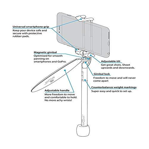 Support Durable de Smartphone de Mini stabilisateur dappareil-Photo Tenu dans la Main pour liPhone pour GoPro