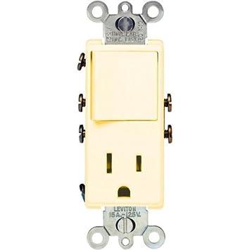 leviton asp amp volt combination decora switch leviton 5625 asp 15 amp 120 volt combination decora switch receptacle