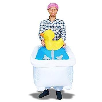 Amazon.com: Hombre Traje en el baño inflable con su Pato ...