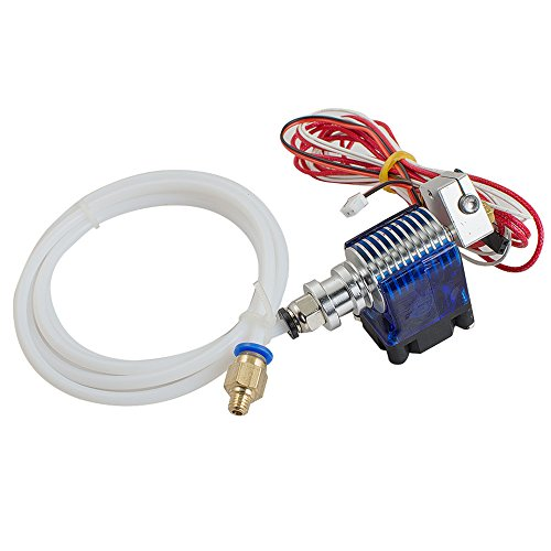 Zorvo 3d Printer Hot End Metal V6 J-Head Hotend Extruder for RepRap 3d Printer Extruder Parts1.75mm Filament, Direct Feed or Bowden 0.4mm Nozzle, 12V fan, and 3ft PTFE Bowden Tube