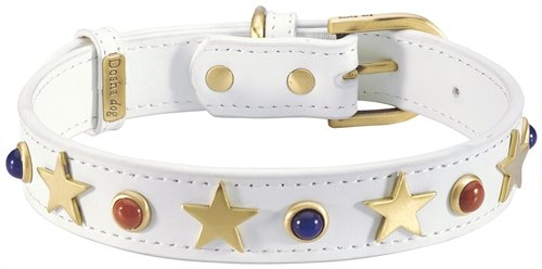 Dosha Dog CAD-02 S American Dog Collar, Small, White
