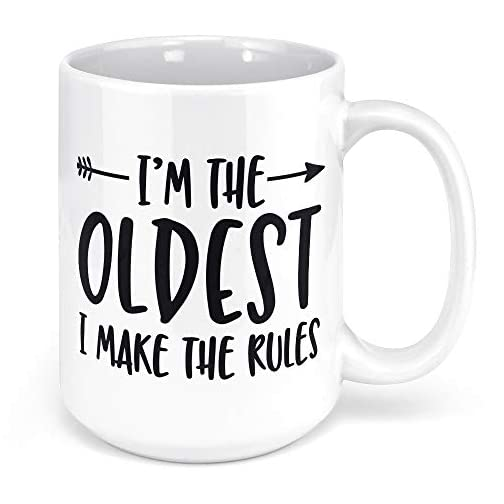 Tenacitee I'm the Oldest Child Rules Arrow Coffee Mug, 15oz, White |
