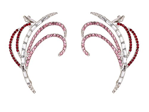 Crunchy Fashion Sparkles of Pink Ear Cuff Earrings for Women