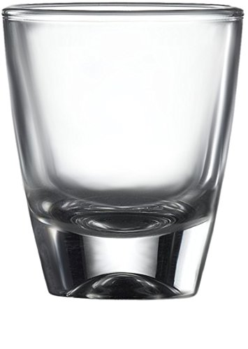 Circleware 42787 Tasters Heavy Base Shot Glasses, Set of 6 Drinking Cups for Whiskey, Vodka, Brandy, Bourbon, and All Type of Liquor Beverages, 1.5 oz, Tasters-Clear