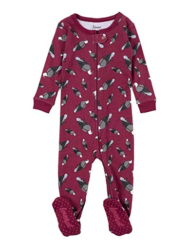 Leveret Kids Pajamas Baby Boys Girls Footed Pajamas Sleeper 100% Cotton (Eagle, Size 12-18 ()