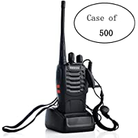 Case of 500, Retevis H-777 2 Way Radio Walkie Talkies UHF 400-470MHz 16CH Walkie Talkies with Earpiece