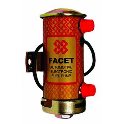 1x Facet 476087 Silver Top Cylindrical Fuel Pump (STS504)