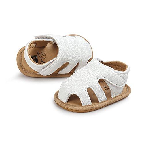 Baby Girl Dress Sandals (Cheeru BABY Girls Shoes Non-Slip Toddler Summer Sandal for Baby First Walker (13cm(12-18months), White))