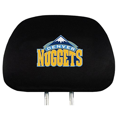 NBA Denver Nuggets Head Rest Covers, 2-Pack