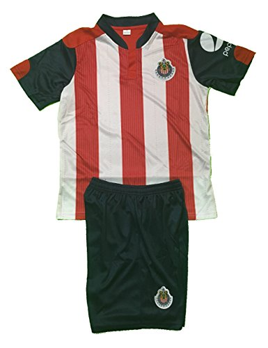 chivas-home-youth-small-size-10-uniform-set-2017-jersey-and-shorts-included