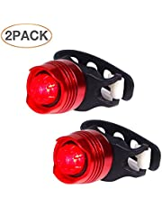 Bike Tail Light - Waterproof Rear Bike LED - Best & Brightest - Small & Rugged - Mount w/Out Tools - Road, Racing & Mountain - Batteries Included - Fits All Bicycles, Trikes, Scooters