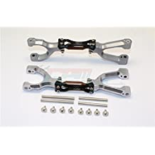 Traxxas X-Maxx 4X4 Upgrade Parts Spring Steel + Aluminum Supporting Mount With Front / Rear Upper Arms - 1Pr Set Gray+Black
