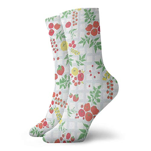 Heirloom Stocking - Cotton Crew Socks for Women&Men Compression Athletic Socks Heirloom Tomato Dress Socks 11.8inch