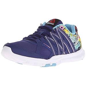 Reebok Women's Yourflex Trainette 8.0L MT Training Shoe, Night Beacon/Blue Splash/Icono Pink/White, 6.5 M US