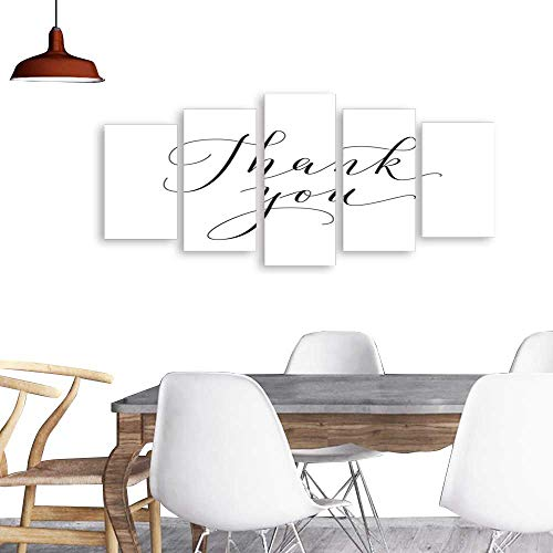 Modern PaintingsThank you words hand written custom calligraphy isolated on white Great for cards wedding invitations social media banners headers photo overlays 1. Home Furnishing Decorative -