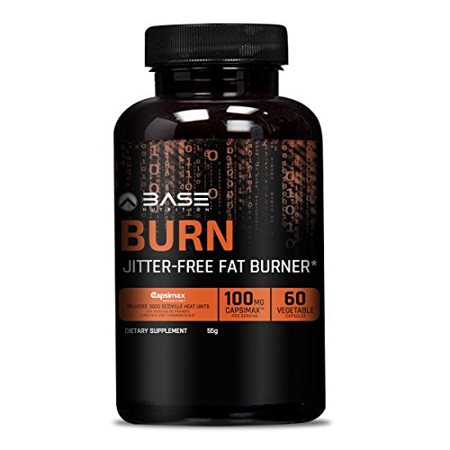 BASE Nutrition BURN Thermogenic Fat Burner & Appetite Suppressant - Weight Loss Supplement with Patented & Proven Ingredients *Green Tea Extract 5 HTP & Coleus* 30 Day Supply For Men And Women Diet