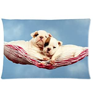 LarryToliver You deserve to have single-sided printing 2 way cloth 20 X 30 inch pillowcase Bulldog Puppy (2) best pillow cases by ruishername