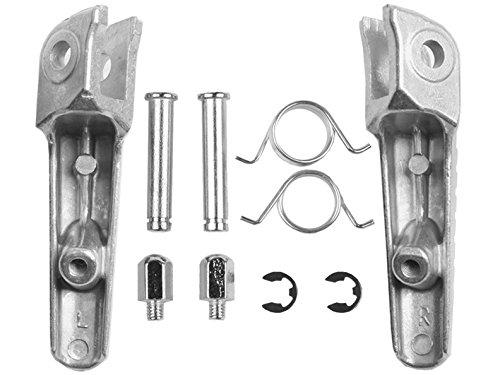 TCMT Silver Front Foot Pegs Motorcycle Footpeg Footrest Bracket Set For Honda CBR600RR CBR 600RR 2003 2004 2005 2006