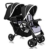 Costzon Double Stroller, Twin Tandem Baby Stroller with...