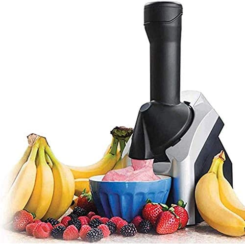 QDLKXM Electronic Ice Cream Maker,Portable Household Use Fruit Soft Serve Frozen Yogurt Machine Sorbet with Countdown Timer, for Frozen Fruit Dessert Make