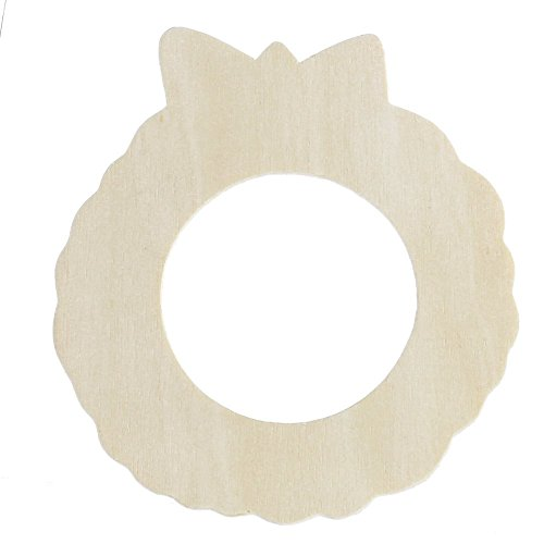 Package of 36 Unfinished Wooden Wreath Cutouts for Crafting, Creating and Embellishing