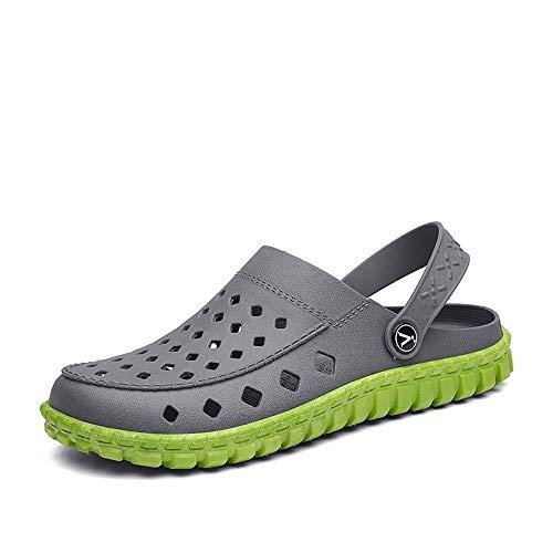 ✩HebeTop Men's and Women's Classic Clog, Comfort Slip On Casual Water Shoe Gray
