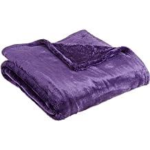 Northpoint Cashmere Plush Velvet Throw, Purple